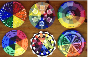 Tempera Color Wheel Designs