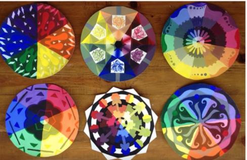 Tempera Color Wheel Designs